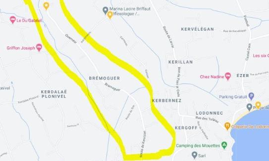 Signature  pour signaler les vitesses excessives de la rue de Quemeur / Bremoguer à Loctudy 29750