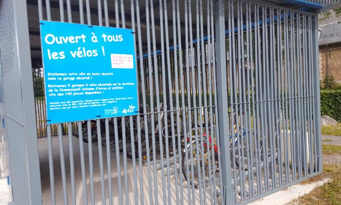 Pour l'installation d'un local sécurisé pour le stationnement des vélos pour les collégiens de Fénelon à Cambrai et association aux alentours