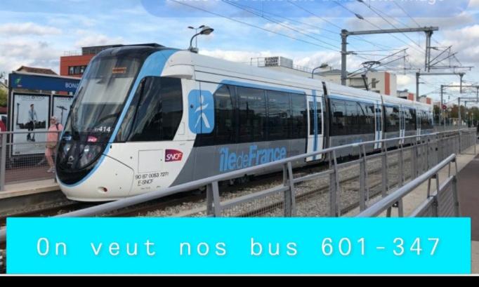 Nous sommes contre la suppression des lignes de bus 347 et 601