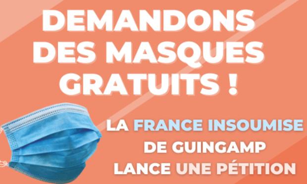 Demandons des masques gratuits ! - Pays de Guingamp