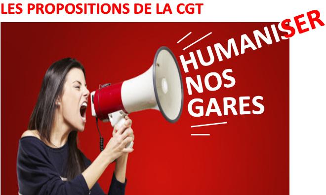 HUMANISER NOS GARES - CONTRE PROJET CGT