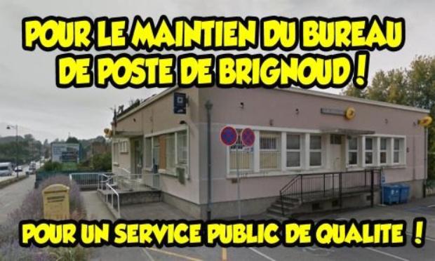 Pétition : Pour le maintien du bureau de Poste de Brignoud, pour un service public de qualité !