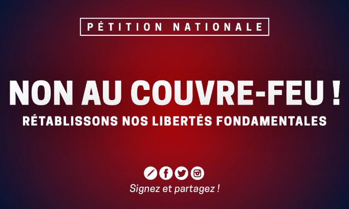 Non au couvre-feu : rétablissons nos libertés fondamentales !