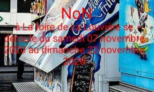 La Louvière : non à la foire de Novembre !