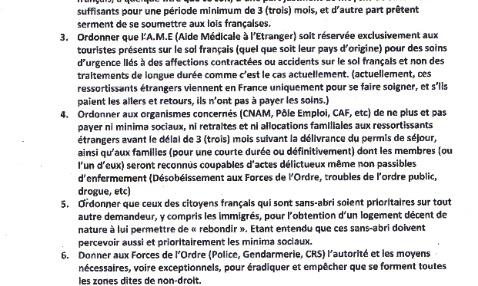 10 points précis et sans ambiguïté pour redonner son intégrité à la France