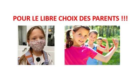 Pour le libre choix du port du masque pour les enfants de notre école primaire du Bayle à Auribeau-sur-Siagne