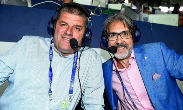 Rodrigo Beenkens et Philippe Albert, commentateurs des matchs FIFA 2022