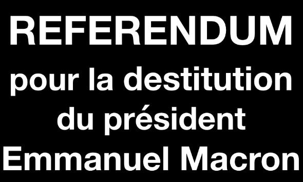 Référendum pour la destitution du président Emmanuel Macron