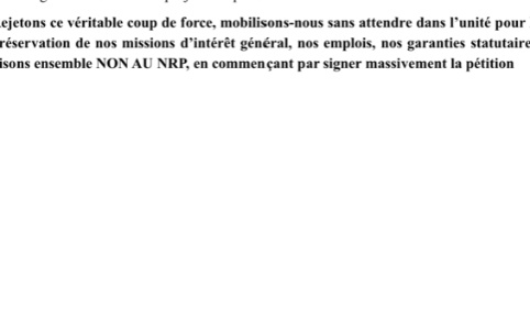 FINANCES PUBLIQUES, NON AU NOUVEAU RESEAU DE PROXIMITÉ EN VAUCLUSE!!!!