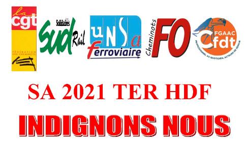 Non au projet SA 2021 au TER HDF - ADC