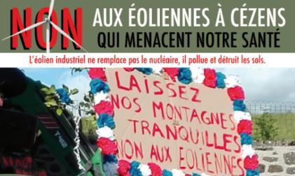 Pétition : Non aux éoliennes à Cézens, au pied du Plomb du Cantal !