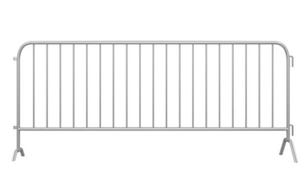 Installation de barrières le long du trottoir boulevard Carnot