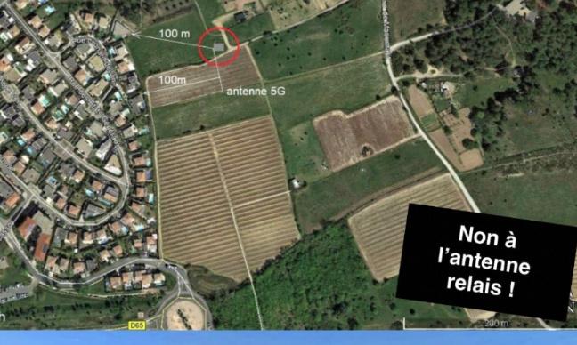 NON à l'antenne relais 5G Bouygues sur les Hauts de Maumarin (Le Crés-Hérault)