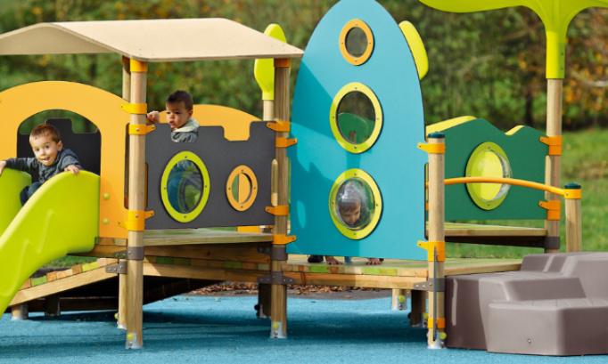 Aménagement d'une aire de jeux pour les enfants