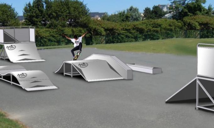 Création Skate Park à Andé