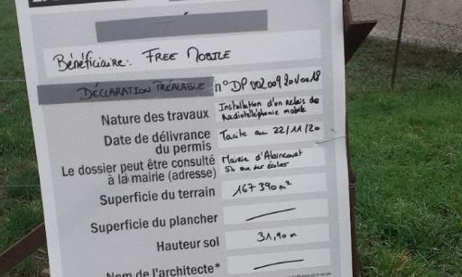 Pétition contre l'installation d'un relais de téléphonie mobile à Alaincourt