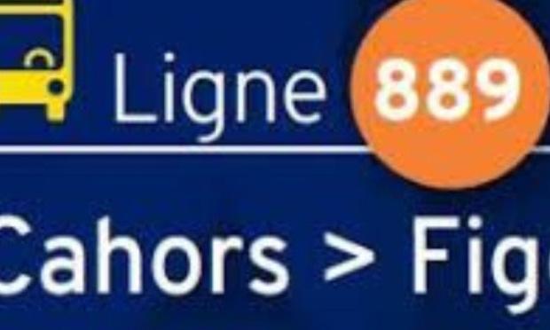 Ligne régulière régional Lio n° : 889  Cahors / Figeac et Figeac / Cahors