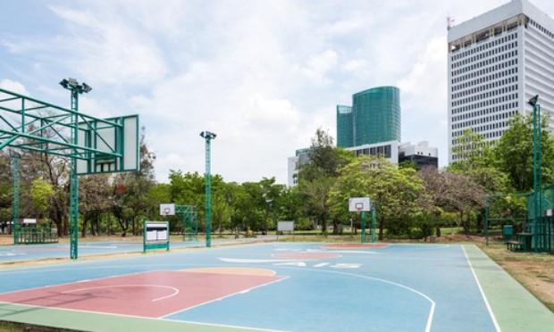 Création d'un espace d équipements sportifs