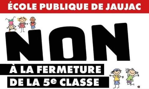 Non à la fermeture d'une classe ! Soutenez l'école publique de Jaujac !