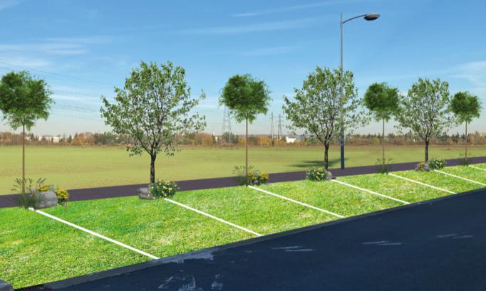Pour la réalisation d'un parking végétalisé.