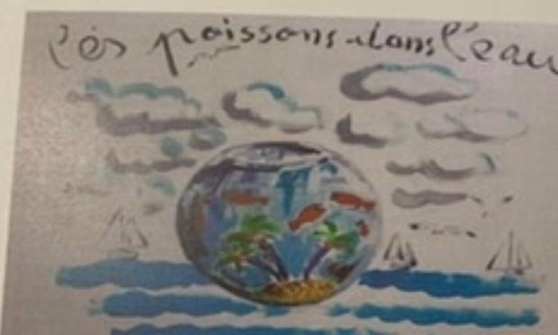 Contre la fermeture du jardin d'enfants les poissons dans l'eau de La Flotte en Ré