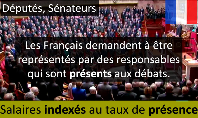 La rémunération des députés et sénateurs doit être indexée au taux de présence.