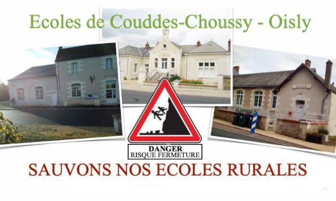 NON à une fermeture de classe sur notre groupement scolaire Couddes-Choussy-Oisly (Loir-et-Cher / 41)