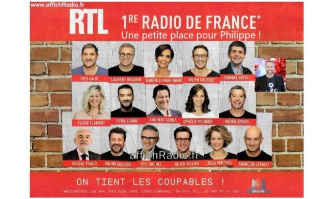 Pétition : Pour que Philippe Caverivière ait sa photo sur l'affiche publicitaire de RTL !