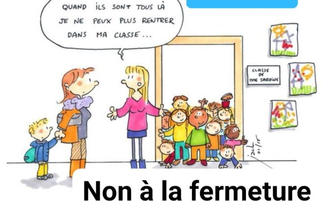 Non à la fermeture d'une classe de maternelle à l'école Jean Jaurès NANCY