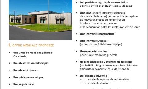 Créer une maison de santé pluridisciplinaire (MSP) à Issoudun à la place de l'ancien cinéma.