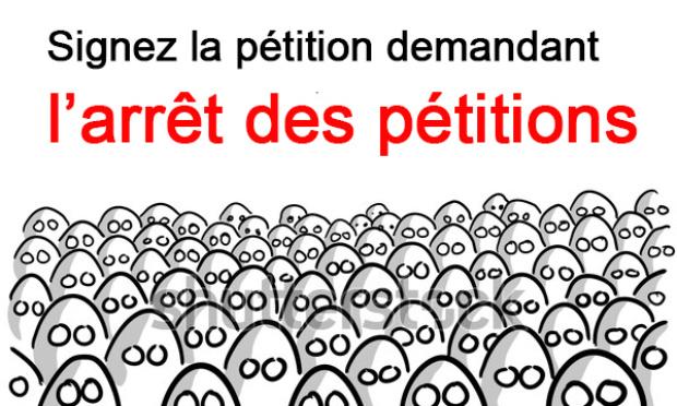 Pour l'arrêt des pétitions