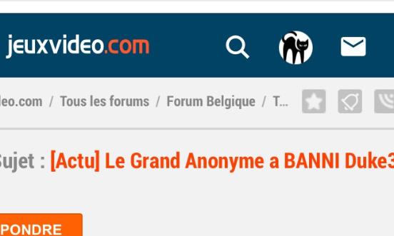 Déban et Rétablissement de Duke3D comme modo du forum Belgique