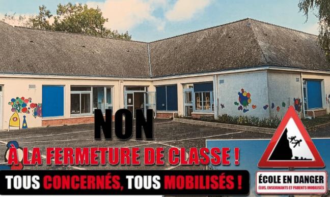 NON à la fermeture de classe à Rouziers de Touraine