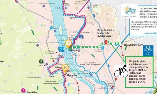 Pétition : Création d'une piste cyclable verte sur l'ancienne voie de chemin de fer St Mariens à Blaye (33)