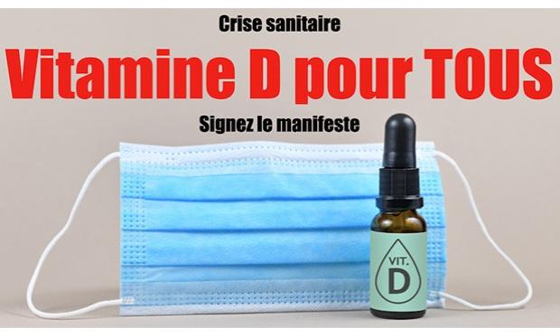 Crise sanitaire : exigez la vitamine D pour tous, maintenant !