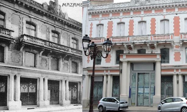 Retrouver les grilles de la façade de l'ancienne C.C.I. de Mazamet