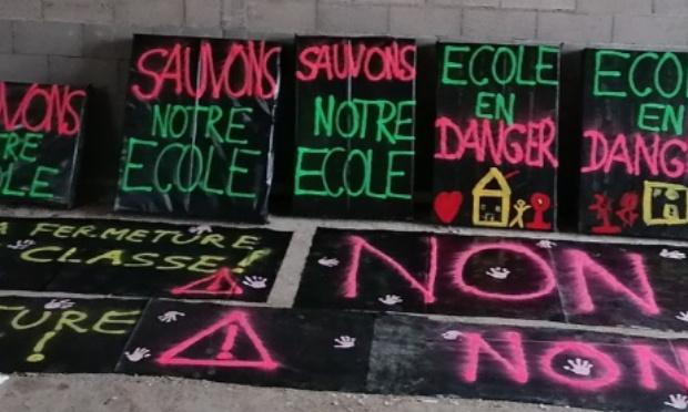 Non à la fermeture d'une classe à Sougé !