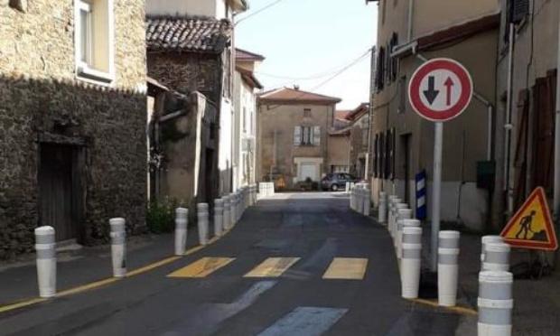 Aménagement dangereux route de Tapigneux à La Cula