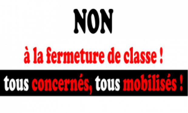 Non à la fermeture d'une classe