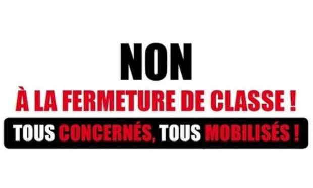 Non à la fermeture d'une classe sur le regroupement scolaire de Barenton-Bugny / Barenton-Cel / Verneuil-sur-Serre