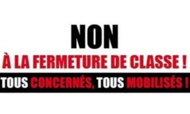 NON A LA FERMETURE DE CLASSE A NOBLEVESLE