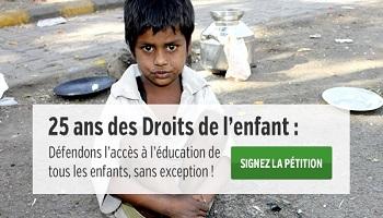 Pétition : 25 ans des droits de l'enfant : Défendons l'accès à l'éducation de tous les enfants, sans exception !