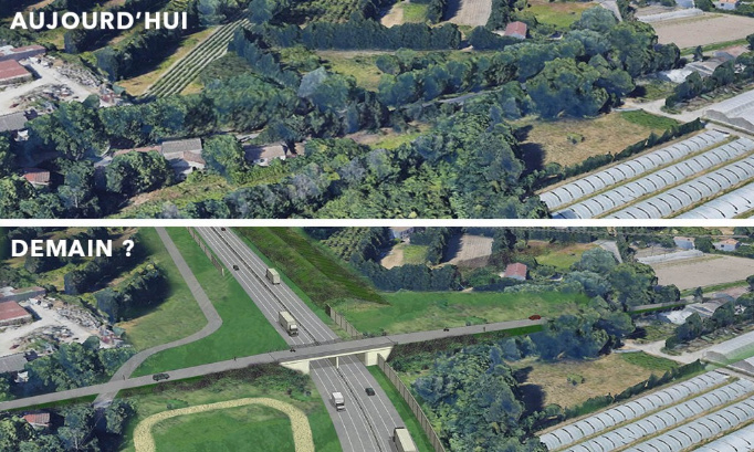 LEO : REFUSONS LA CONSTRUCTION D'UNE ROCADE ROUTIERE EN CEINTURE VERTE D'AVIGNON !