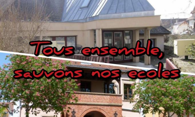 ENSEMBLE CONTRE LA FERMETURE DE CLASSE DE MATERNELLE - ROSHEIM