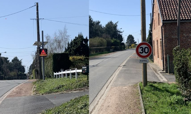 Reduire la vitesse lors de la traversée de notre village malgré la limitation à 30km/h