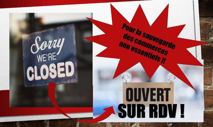 Pour l'ouverture des commerces non essentiels sur RDV.