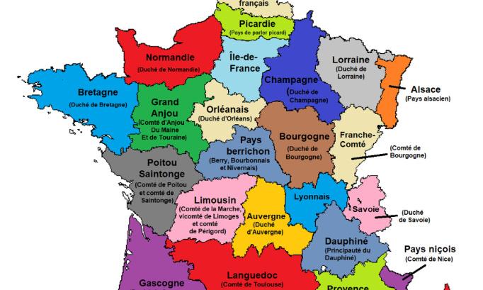 Que les régions reviennent à leurs frontières historiques