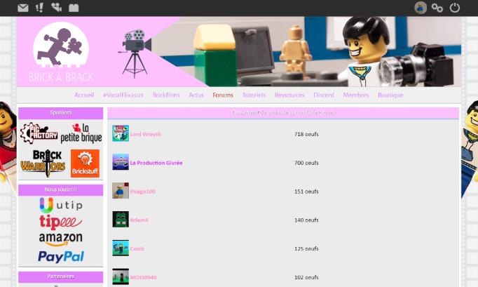 Mettre le site de Brick à Brack en rose, pendant au moins 1 semaine !