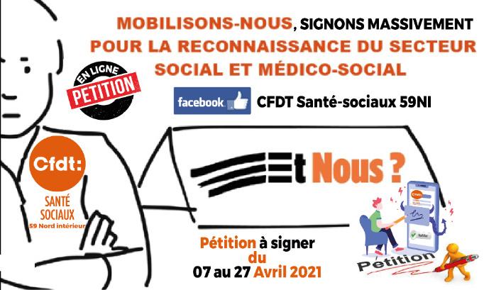 #Et Nous! Exigeons des moyens immédiats et conséquents pour financer tous les métiers du social et du médico-social sans discrimination