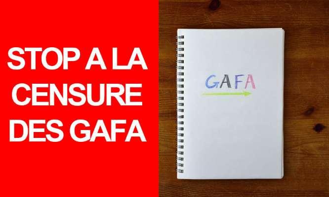 Réseaux sociaux : STOP à la censure des GAFA !
